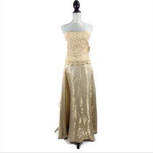 Scott McClintock Strapless Formal Dress Gown Gold